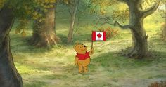 In honour of Canada Day and the upcoming Winnie the Pooh movie, Disney is showing off their beloved character's Canadian roots with this little photo of Pooh holding a Canadian flag. Cute Wallpaper For Phone, Iphone Background Wallpaper, Disney Wallpaper, Wallpaper Ideas, Walter Elias Disney, Winnie The Pooh Quotes, Happy Canada Day, Vinyl Banners, Happy Independence Day
