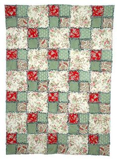 Make A Four-patch Rag Quilt With This Easy Pattern