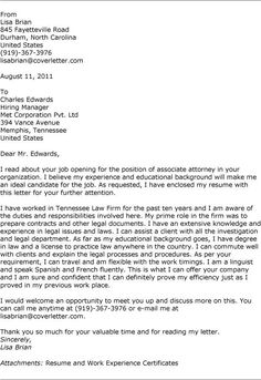 Associate Attorney Resume Extraordinary Resume With Cover Letter Example Graduate Quality Control Template .