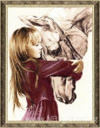ZR-SV016 Dívka s koněm