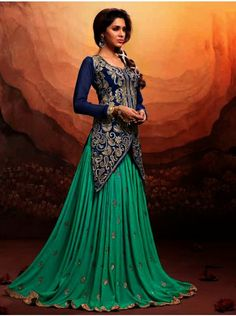 Buy Blue Georgette Suit With Heavy Zari Embroidery Work Designer Mannat Collection Online In India - saree.com
