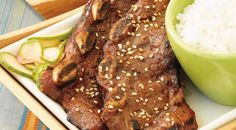"KOREAN BEEF BARBECUE: ~ From: ""Weber.Com."" ~ Recipe Courtesy of Jamie PURVIANCE ~ Prep.Time: 10 min; Baking Time: 3 to 5 min; Serves: 4 to 6."