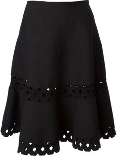 ALAÏA Cut-Out A-Line Skirt
