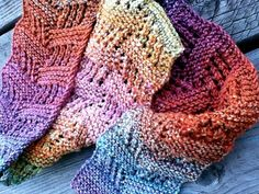 Knitting-The Hollenhorst Scarf, free pattern, can be adapted to any weight yarn - handspun Knitting Stitches, Knitting Patterns, Crochet Patterns, Knitting Ideas, Loom Knitting, Knitted Shawls, Crochet Scarves, Scarf Knit, Knit Or Crochet