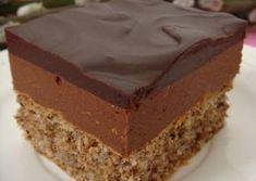 Luxusní Mozartovy kostky | NejRecept.cz Czech Desserts, Sweet Desserts, Sweet Recipes, Baking Recipes, Cake Recipes, Dessert Recipes, Chocolate Raspberry Mousse Cake, Czech Recipes, Healthy Cake
