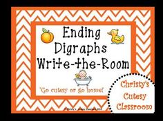 This chevron-themed literacy center features 10 cards picturing ending digraph words.  To play, students carry their recording sheets around the room and write the word to show the picture they see.  Great for beginning readers and writers.*Be sure to check out other titles in this series:CVC Words Write-the-RoomCVC Words Write-the-Room IICVC Words Write-the-Room IIIBeginning Blends Write-the-RoomBeginning Digraphs Write-the-RoomChristy's Cutesy Classroom