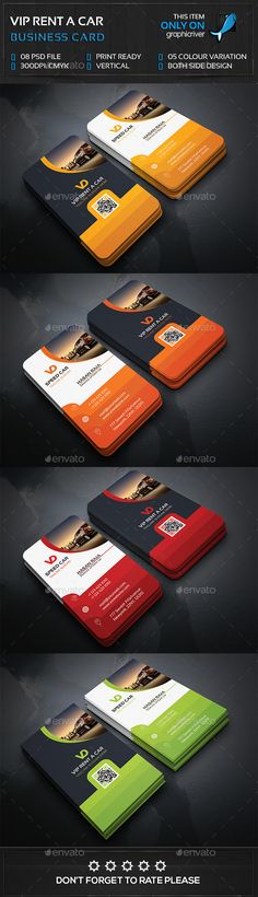 Rent a Car Business Card - Business Cards Print Templates Make Business Cards, Business Card Psd, Elegant Business Cards, Professional Business Cards, Business Card Design, Creative Business, Stationery Design, Branding Design, Corporate Design