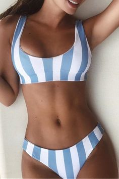 Color Block Striped Printed Round Neck Sleeveless Bikini - Source by bathing suits bikinis Cute Swimsuits, Cute Bikinis, Women Swimsuits, Trendy Bikinis, Summer Bathing Suits, Cute Bathing Suits, Target Bathing Suits, Bathing Suit Top, Brasilianischer Bikini