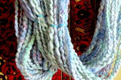 Handspun Thick and Thin Art Yarn Romance 4 ounces by ladypainswick, $28.00 My latest design