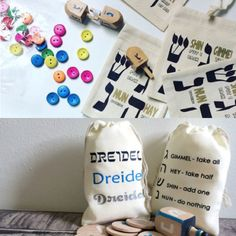 Dreidel gift bags
