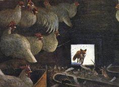 Harald Wiberg Illustrator, Illustration Art, Book Illustrations, Hens, Gnomes, Scandinavian, Rooster, Christmas Cards, Draw