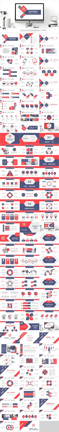 1 red blue business annual report in 1 red blue business annual report slides--- Redcolor Annual Report Powerpoint Templates Simple Powerpoint Templates, Professional Powerpoint Templates, Keynote Template, Powerpoint Games, Report Design Template, Ppt Design, Design Art, Business Design, Global Business