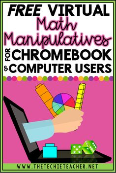 FREE Virtual Math Manipulatives for Chromebook and Computer Users Base ten blocks, spinners, geoboards, fraction circles.These are all types of math manipulatives that teachers have readily availab Math Teacher, Math Classroom, Teaching Math, Google Classroom, Classroom Ideas, Online Classroom, Teacher Binder, Teaching Tools, Student Learning