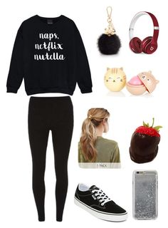 """""""Mondays"""" by phan-grell ❤ liked on Polyvore featuring Dorothy Perkins, Furla, Vans, Kitsch, Agent 18 and Beats by Dr. Dre"""