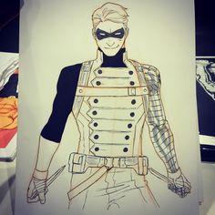 Awesome Art Picks: Doctor Doom, Batman, Iron Fist, and More - Comic Vine Marvel Art, Marvel Dc Comics, Comic Books Art, Comic Art, Book Art, Soldier Drawing, Character Art, Character Design, Arte Nerd