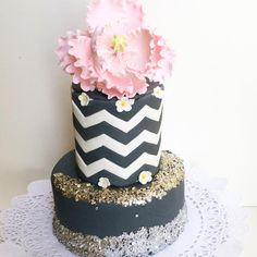 Sequin n chevron Cake