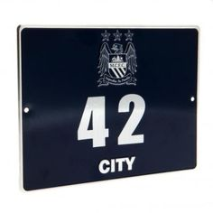 MANCHESTER CITY Personalisable Metal Door Plaque. Includes adhesive numbers and instructions. Approx 20cm x 15cm. Official Licensed Man City gift. FREE DELIVERY ON ALL OF OUR GIFTS