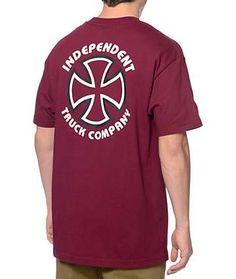 Independent Classic Bauhaus Burgundy T-Shirt