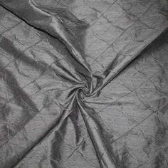 Haute NY Designer Tucked/Stitched Duppioni – Black