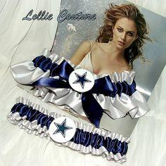 Dallas Cowboys Garter  wedding garter set by lolliecouture on Etsy, $50.00