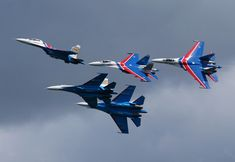 Sukhoi of Russian Knights of Russian Airforce at Pushkin airbase (ULLP). (Photo by Fyodor Borisov/Transport-Photo Images) Fighter Pilot, Fighter Aircraft, Fighter Jets, Russian Air Force, Yellow Sky, History Online, Sukhoi, Air Show, Military Aircraft