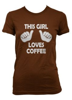 This Girl Loves Bacon t shirt funny bacon shirt. I NEED this! I Love Coffee, My Coffee, Coffee Beans, Coffee Girl, Coffee Shop, Coffee Cups, Coffee Humor, Coffee Quotes, Outfits