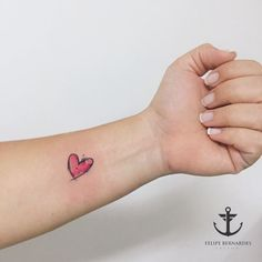 awesome Watercolor tattoo - Watercolor little heart tattoo... Check more at http://tattooviral.com/tattoo-designs/watercolor-tattoos/watercolor-tattoo-watercolor-little-heart-tattoo/