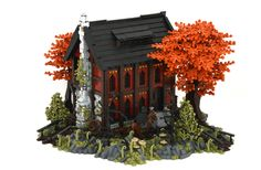 The Westwood Inn is a welcoming stop for those traveling along the Nocturnus-Mitgardia border.(A build for GoH on Eurobricks. Thanks for looking! Gratitude and apologizes to those who saw/faved/commented on this yesterday - didn't realize until right after I uploaded the pics that a couple of parts had fallen off during photography. Doh!) Thanks to Stephen Braker for the awesome olive-green tree design!