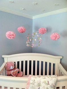 Nursery Decor with Butterfly Mobiles modern nursery decor