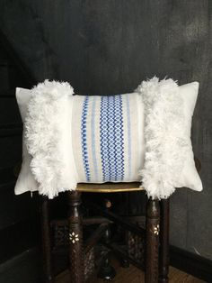 Vintage azul tejido étnico marroquí griego por TaisaSilecky en Etsy