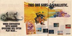 Old school print ad for Rocket Knight Adventures for the Sega Genesis a.k.a. Mega Drive.