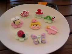 fairy garden cupcake toppers by Mossy's Masterpiece cake/cupcake designs, via Flickr