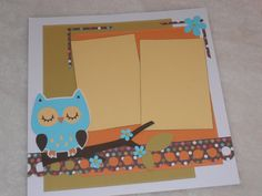 12x12 Premade Girl Scrapbook Layout with Owl by SimplyMemories, $7.99