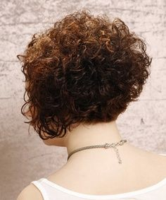 Curly Stacked A Line Bobdo Hair Cutting Inspiration On Pinterest Blhejkwa