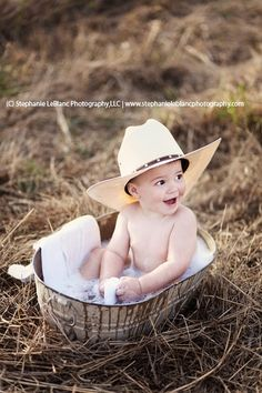 2nd birthday photo portrait ideas boy | Outdoor portrait session baby cowboy | WAR 1st Birthday Party