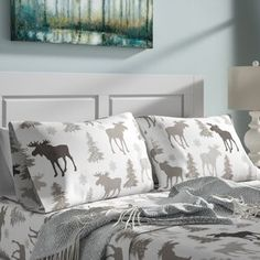 Eddie Bauer Willow Plaid Reversible Comforter Set & Reviews   Wayfair 100 Cotton Sheets, Cotton Sheet Sets, Accent Pillows, Bed Pillows, Single Quilt, Drapery Rods, Ruffle Bedding, Comforter Sets, Plaid Comforter