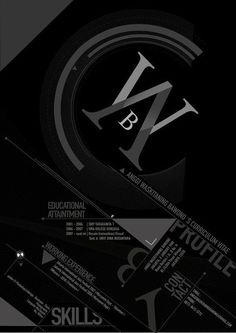 The Creative Resume Designs That Will Make You Rethink Your CV. They firms filters thousands of resumes on daily basis,only considering creative resumes design. Graphic Design Resume, Resume Design Template, Resume Templates, Typography Design, Web Design, Print Design, Portfolio Resume, Self Branding, Creative Resume