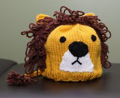 lion hat from etsy
