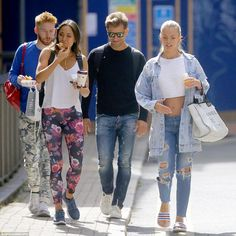 Morning: Neil Jones, Katya Jones, Pasha Kovalev and Nadiya Bychkova enjoyed a spot of breakfast, as well as heart chatter, ahead of gruelling rehearsals