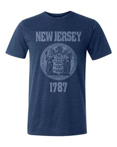 31940f98 New Jersey's historic coat of arms :: details :: Available in black, red. Orchard  Street Apparel