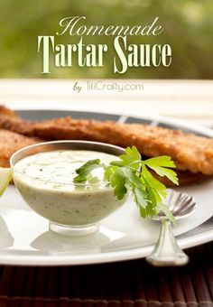 Today I'm sharing how to make a homemade tartar sauce. I shared recently how to make homemade mayonnaise, which is the base for the tartar Sauce.