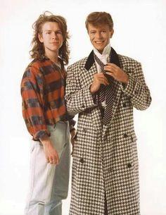 John Taylor and David Bowie