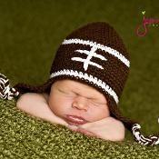 Crocheting: free crochet football hat