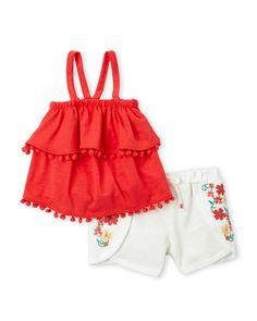 d2310ba23 Jessica Simpson (Infant Girls) Embroidered Short Set Ropa De Nena
