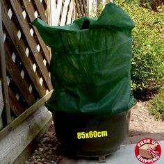 An excellent slip-over fleece bag to protect plants from frost, snow, cold wind and adverse weather. Made from heavier weight fleece which allows light and water to pass through. Patio Storage, Garden Pots, Storage Solutions, Shrubs, Frost, Outdoor Living, Jacket, Cover, Winter