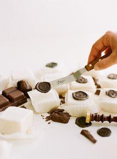 "Trés Chic Monogram - chocolate ""wax"" seals"