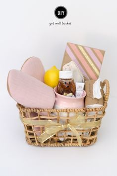 DIY get well basket: http://www.stylemepretty.com/living/2015/05/12/diy-get-well-gift-basket/ | Photography: Rebecca Yale - http://www.rebeccayalephotography.com/