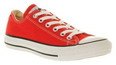 Converse All Star Low Red Canvas - Unisex Sports Birthday Ideas For Her, Converse All Star Ox, Converse Trainers, Office Shoes, Chuck Taylor Sneakers, Shoe Collection, Men's Shoes, High Top Sneakers, Purses