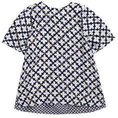 Stella McCartney Kids - Navy blue printed viscose blouse - 52091