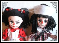 Living Dead Doll - close-up of Rotten Sandy and Sam